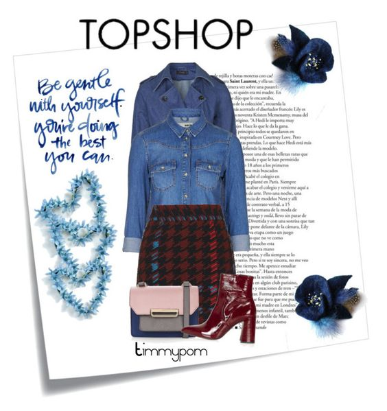 """""""Topshop..."""" by timmypom ❤ liked on Polyvore featuring Post-It, Topshop, women's clothing, women, female, woman, misses, juniors, skirt and topshop"""