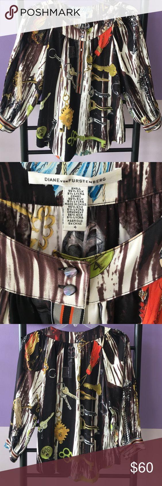 Diane Von furstenberg top Silk blouse in great condition Diane von Furstenberg Tops Blouses