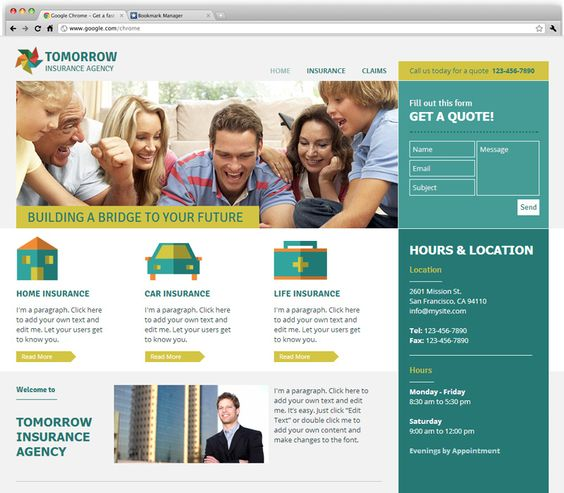 Insurance Agency - Contemporary design for an insurance agency ...