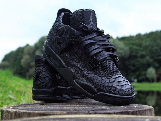 "Air Jordan 4 ""Black Python"" Customs by McMaggi"