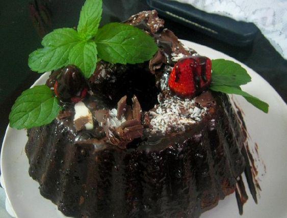 Budín de chocolate con bizcochuelo