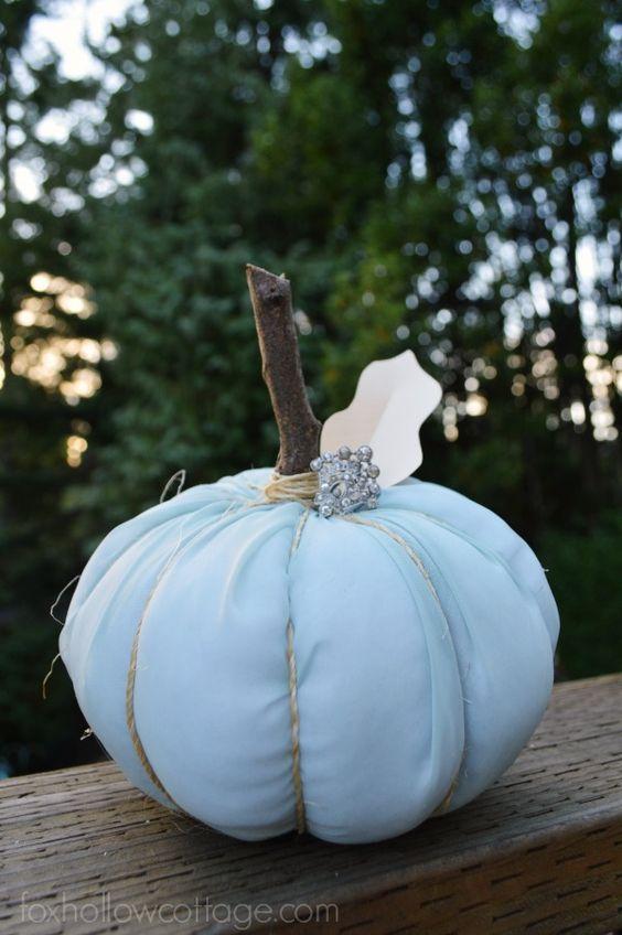 Great trick to Make A No Sew Fabric Pumpkin! It's a cheap ...