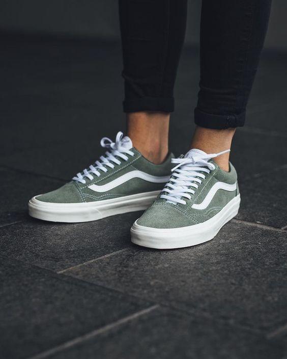 Green Vans #shoes #vans #sneakers