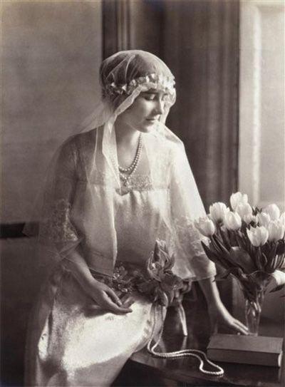 The Queen Mother as a bride.
