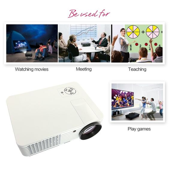Amazon.com : RD-803 16:9 Wide Screen New Multifunction 5 Inch Hd Home Theater Projector 1024*600 Hdmi USB Pc Ypbpr WII Ps3 2000 Lumens 1200:1 Contrast Ratio Cast/display/sling Projection Method Manual Focus : Lcd Projectors : Electronics