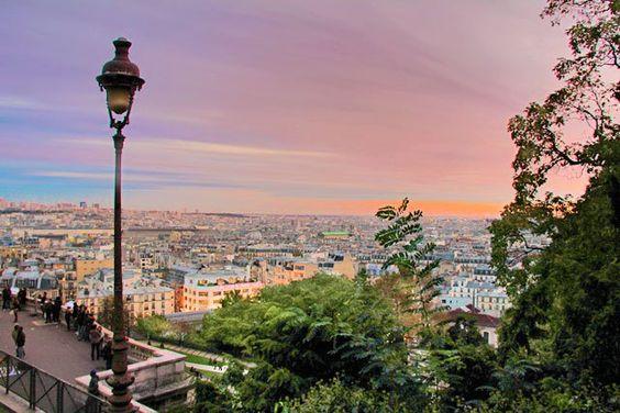 Paris vista do mirante da Sacré-Cœur, em Montmartre - http://fuievouvoltar.com