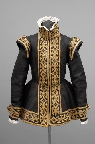 "c. 1555. ""Black Armor"" doublet of a precious boy. Owner: Archduke Ferdinand II, son of Ferdinand I of Habsburg Austria, ruler of Tyrol 1529 - 1595"