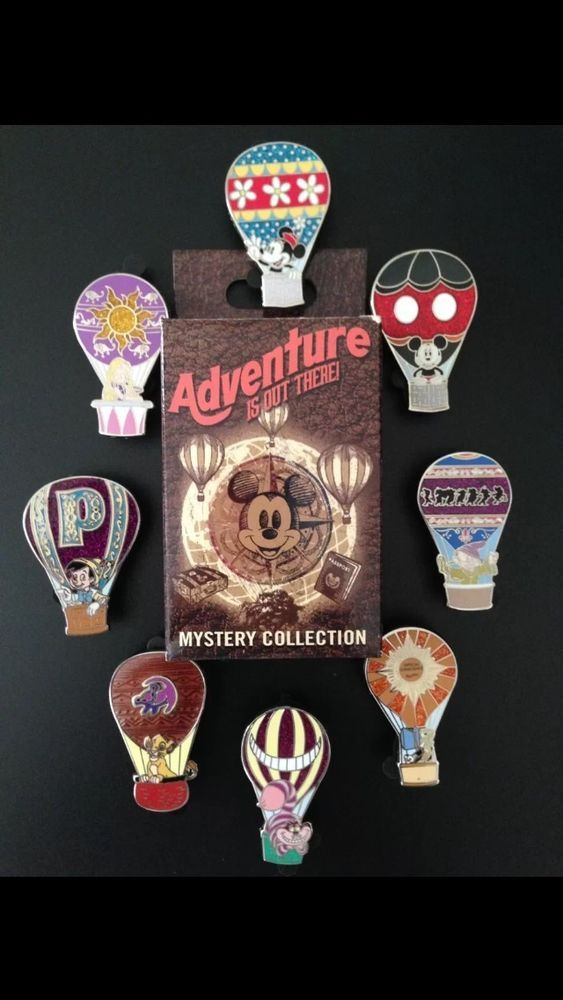 Disney HotAir Balloon Mystery Adventure is Out There 8 Pin Complete Full Set WDW: