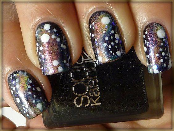 Galaxy Nails- Out of this world nail art. #nails #nailart #nailartist
