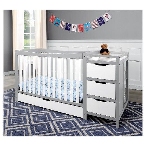 Graco Remi 4 In 1 Convertible Crib And Changer White Crib With Changing Table Cribs Convertible Crib