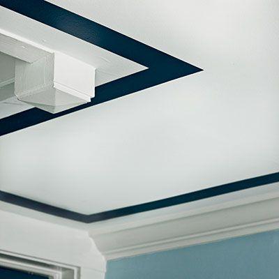 Custom painted ceiling border
