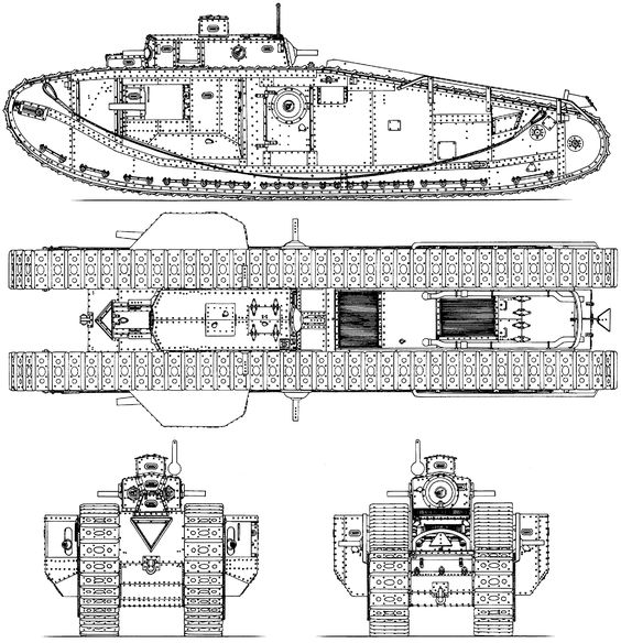Tank mark viii blueprint armor pinterest armored vehicles and wwi malvernweather Images