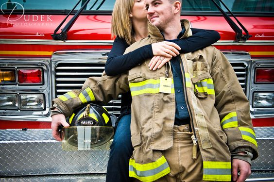 Image detail for -toronto fire truck engagement photography Chris & Becky   Toronto ...