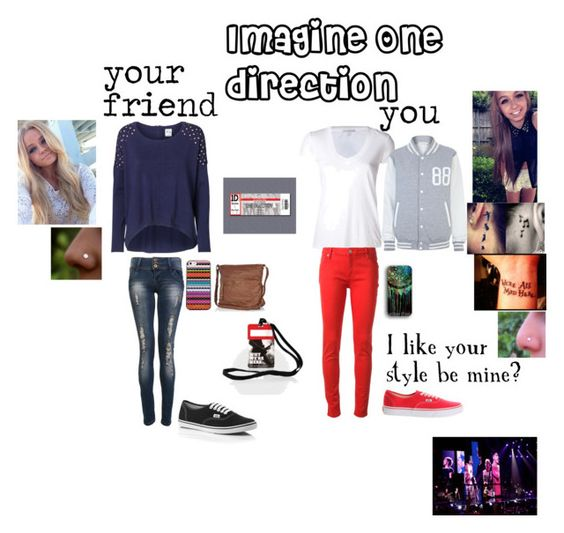 """Imagine One direction"" by rainbow22xd ❤ liked on Polyvore featuring Vero Moda, James Perse, dVb Victoria Beckham, River Island, Stella & Dot and Vans"