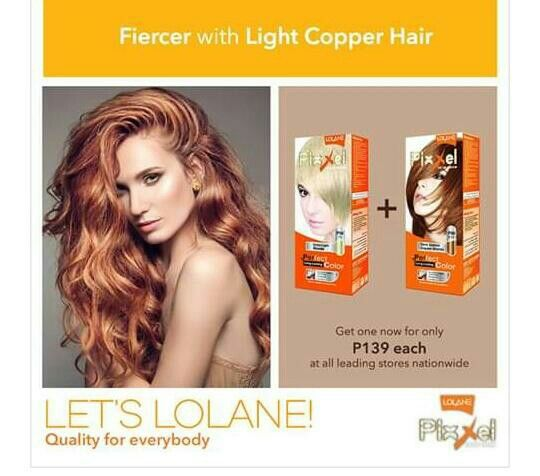 Lolane Pixxel Light Copper Hair Copper Hair Light Copper