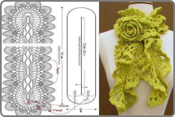 DIY Fashion Crochet Scarf Pattern DIY Projects | UsefulDIY.com Follow us on Facebook ==> https://www.facebook.com/UsefulDiy