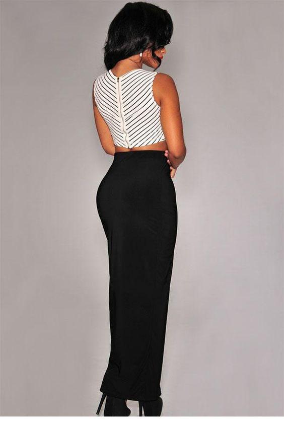 long black pencil skirt (24) | long skirts   dresses | Pinterest ...