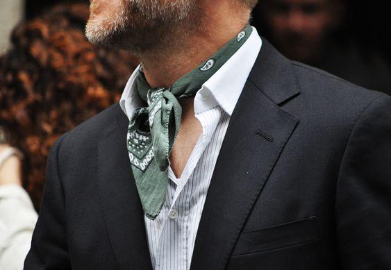 With a blazer.: