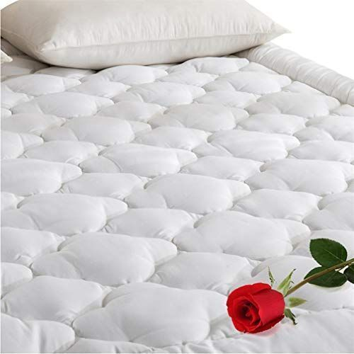 Downcool 300t 100 Cotton Quilted Fitted Mattress Pad Cooling Down Alternative Pillow Top Mattress Cover Fit Mattress Pad Pillow Top Mattress Mattress Covers