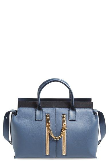 Free shipping and returns on Chloé 'Medium Cate' Leather Satchel at Nordstrom.com. Dual zip pockets connected by a glimmering goldtone chain add signature glamour to a swank satchel structured from lavishly pebbled leather.