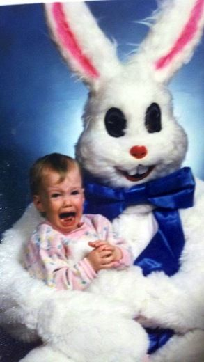 Hope you had a much happier Easter than this little one.