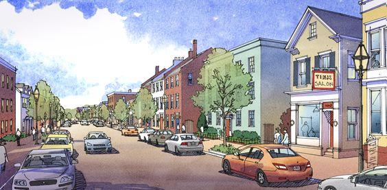 Mixed Use 'Main Street' Development Concept   TPUDC   Town Planning & Urban Design Collaborative