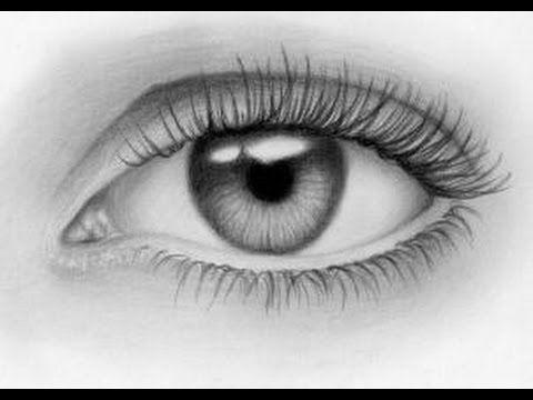طريقة رسم عين بطريقة احترافية Shabab Arab Youtube Eye Drawing Tutorials Eye Drawing Eye Sketch