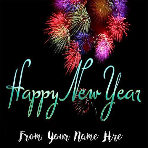 Amazing Firework New Year Wishes Name Image Edit Happy New Year Fireworks Happy New Year Pictures Happy New Year Message New year wallpaper with name