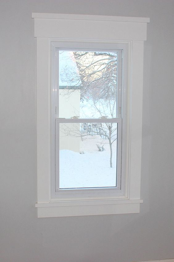 DIY Craftsman Style Window Trim - I did not know that this was enough of a thing to have a special name! But it looks nice. (And we have it on most of our windows now.):