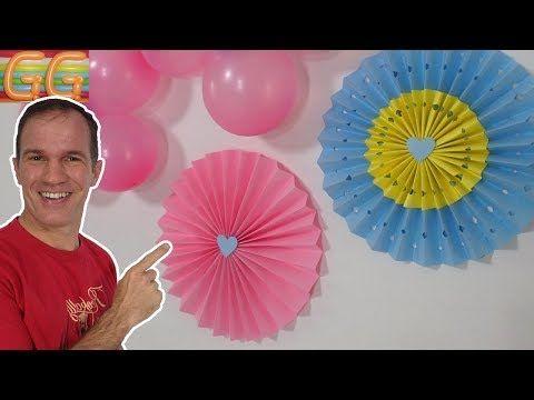 22 Decoracion con flores de papel y globos