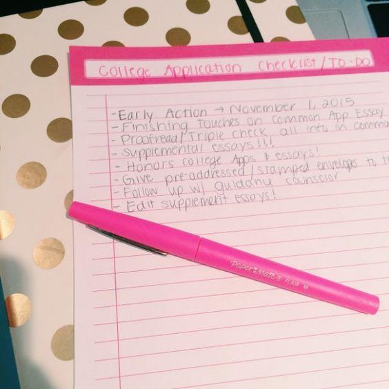 application essay ideas