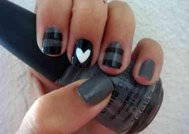 black-cute-nail-designs