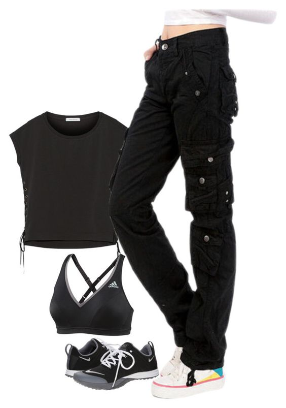 """""""Untitled #630"""" by l-r-warda on Polyvore featuring Pierre Balmain, NIKE and adidas"""