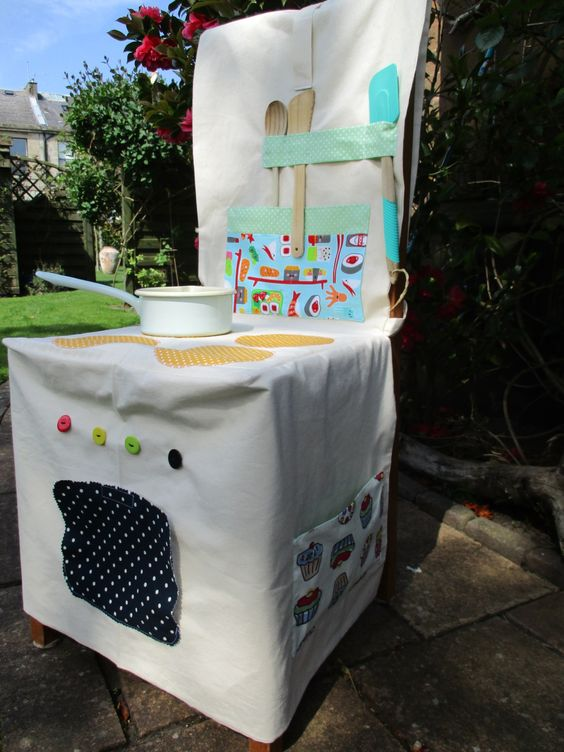 Fabric Cooker, Role play chair cover, Space saving toys, Imaginative play, childs cooker, small world, pretend play, by beadiesbyjo on Etsy: