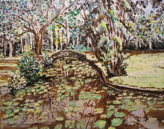 """Summit Gardens""  Panama  Acrylic Painting by Sharon Gonzalez"