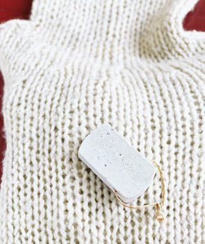 Pumice stone as sweater depiller