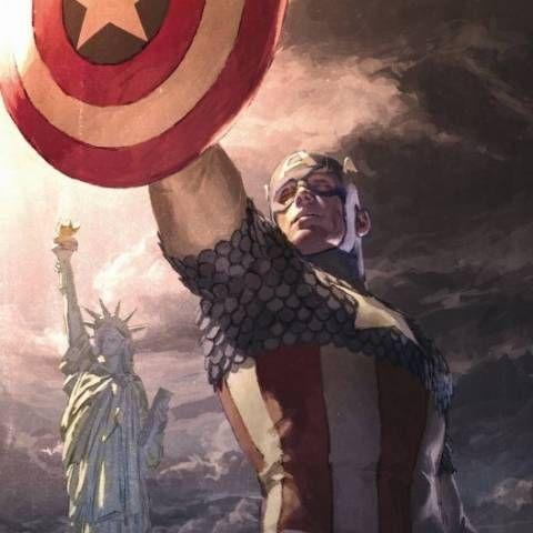 Captain America - art by Gerald Parel