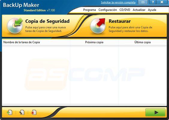 Backup Maker Standar Editión Free Grátis | hardwareysoftware.net
