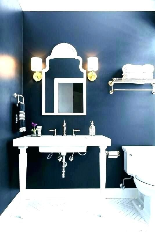 Dark Blue Bathroom Accessories Royal Rugs Decor Set Blue