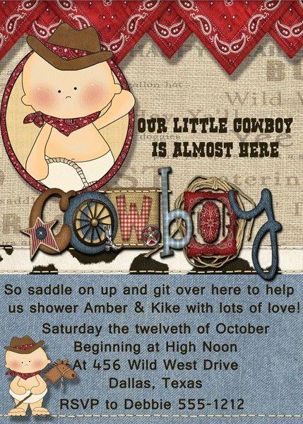 Western Boy Baby Shower Invitation QTY 10 by debspartydesigns, $10.00