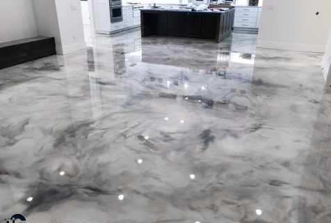 Metallic Marble Epoxy Floor From Glossy Floors Polished Concrete And Epoxy Flooring Of Northwest Arkansas In 2020 Epoxy Floor Polished Concrete Epoxy