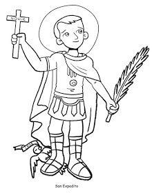 Dibujos Para Catequesis San Expedito Dibujos Paginas Para Colorear Como Dibujar Cosas