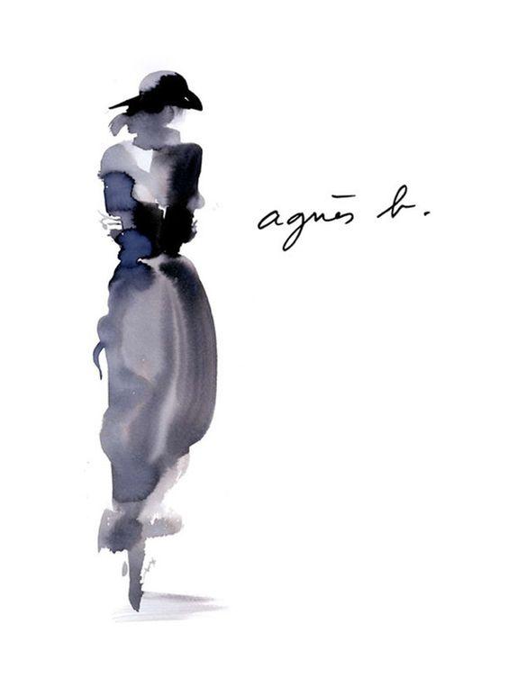 Aurore De La Morinerie - Encre I | Gallois Montbrun & Fabiani #illustration #fashion #agnesb