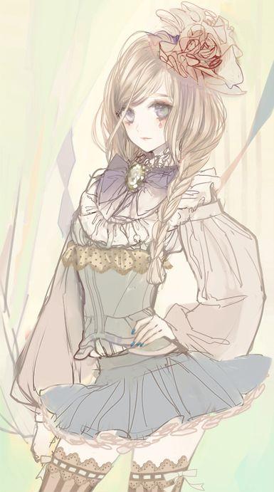 Garota Anime Fofa Com Estilo ♥
