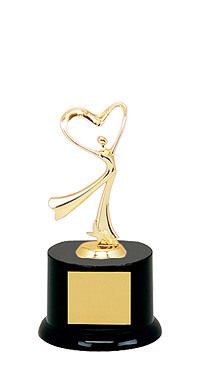 "8"" Black Acrylic All Star Heart Trophy"