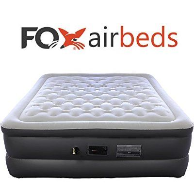 *Top Rated* Best Inflatable Bed By Fox Airbeds - Plush High Rise Air Mattress in King, Queen, Full and Twin Xl (Full)