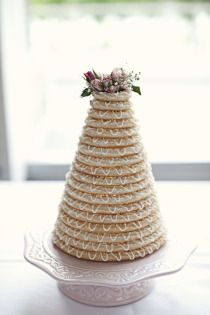 I want to make one for our anniversary...so delicious.  Norwegian wedding cake- kransaka