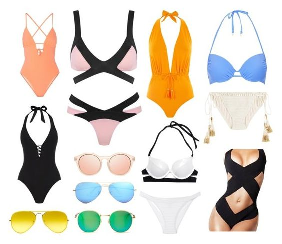 """Badmode"" by jennifer100-1 ❤ liked on Polyvore featuring Topshop, SHE MADE ME, Agent Provocateur, Victoria's Secret, Tart, Lazul, Oasis, Wildfox, Ray-Ban and Heidi Klein"