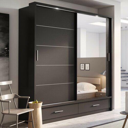 Brayden Studio Tengan 2 Door Sliding Wardrobe Reviews Wayfair Co Uk Bedroom Closet Design Wardrobe Design Bedroom Bedroom Furniture Design