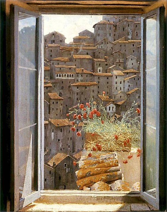 Edward Okuń, Widok z okna, 1905